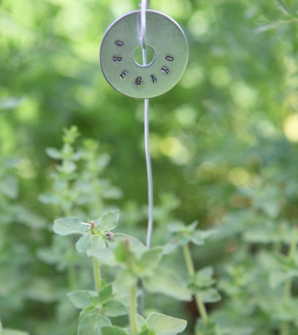 Metal Stamped Plant Tags from Hardware Store Finds