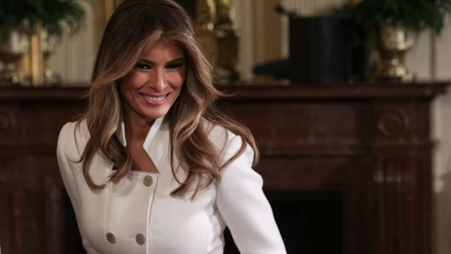 Melania Trump helps open garden dedicated to first ladies