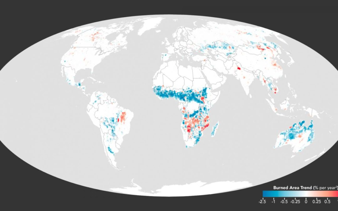 NASA: Global acreage burned by fire has dropped 24% since 1998