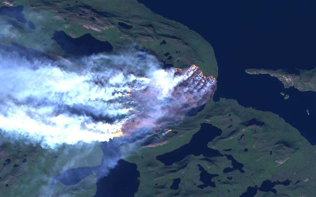 Greenland, the land of ice and snow, is burning