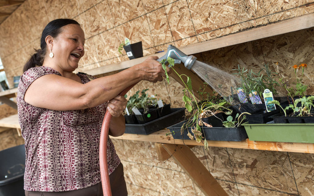 Planting community at the Hilyard garden