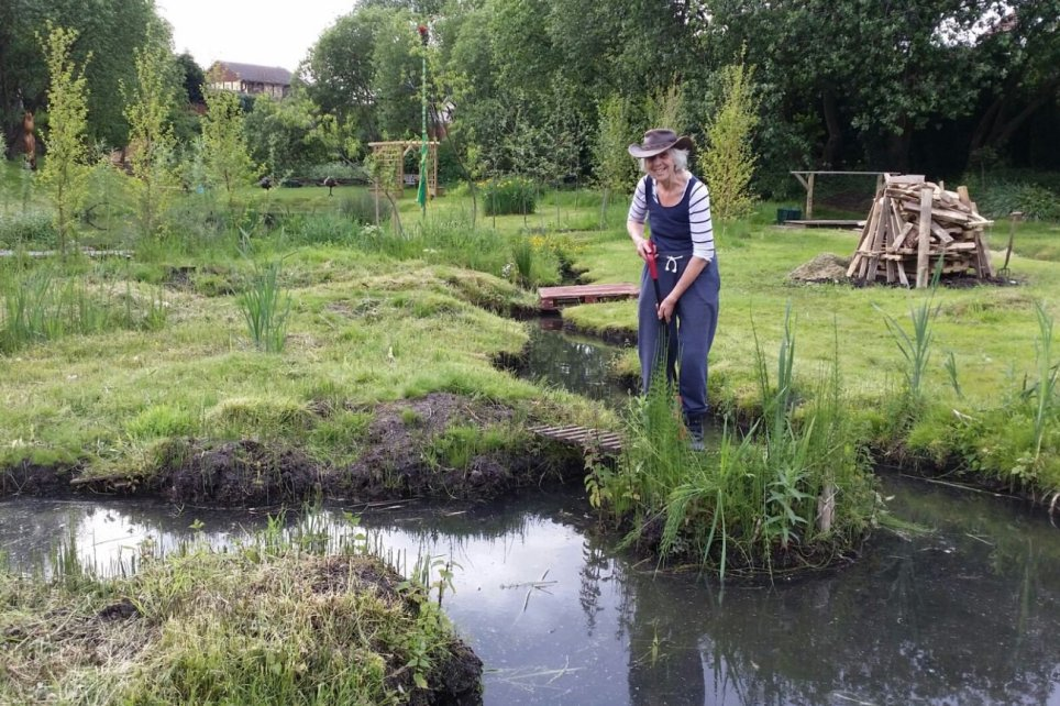 The secret garden in the suburbs of Salford after gran turns swamp into an oasis