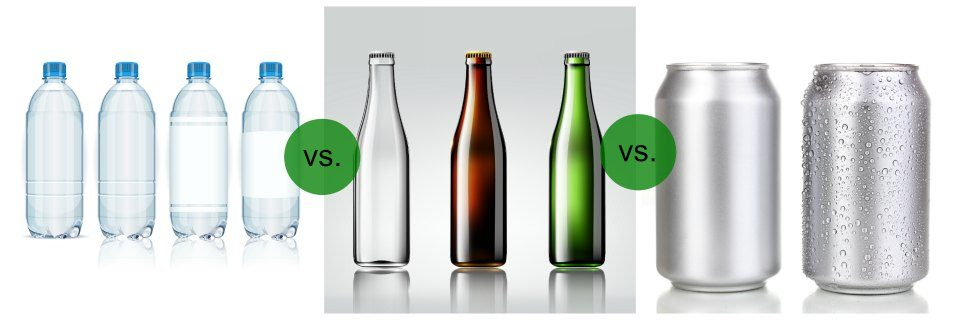 Beverage Container Showdown: Plastic vs. Glass vs. Aluminum